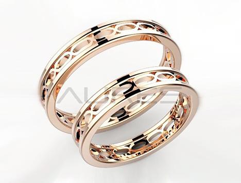 fedi nuziali ovaline oro rosa coppia di fedi realizzate a mano in oro ...