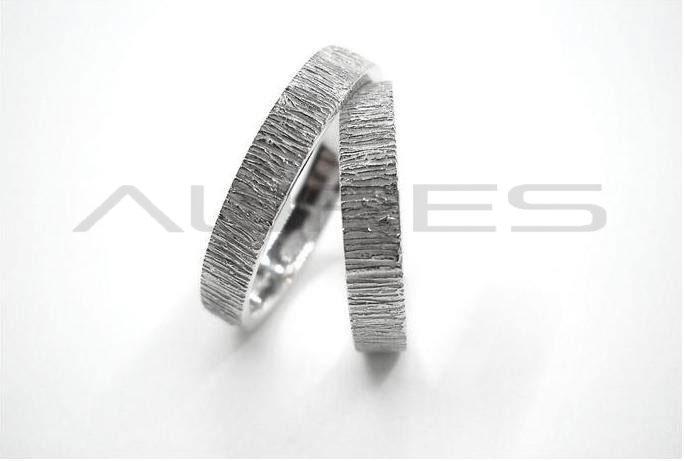 Super Fedi Nuziali Rasna oro bianco - Aures XS54