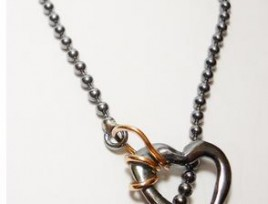 bracciale black heart