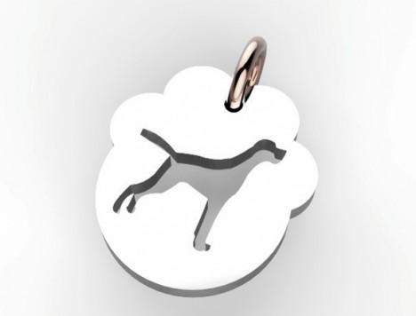 Charm animali Impronta Cagnolino Segugio
