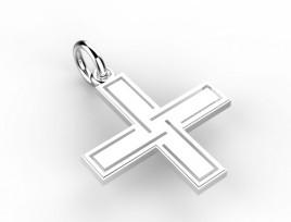 Ciondolo Croce Lavorata