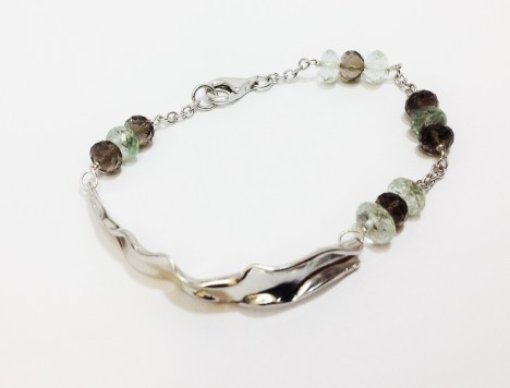 Bracciale paper brown and green