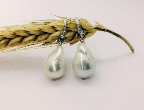 Orecchini perle brillanti